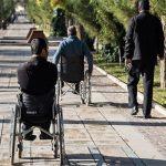 رفت و آمد معلولین در شهر میلنگد